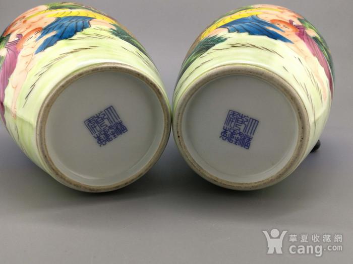 外销瓷珐琅彩西洋人物纹瓶一对图11