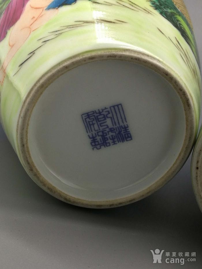 外销瓷珐琅彩西洋人物纹瓶一对图12