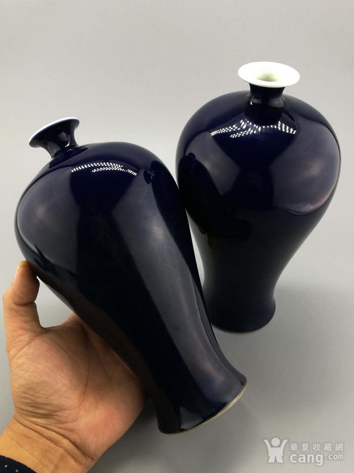 单色釉霁蓝釉梅瓶一对图9