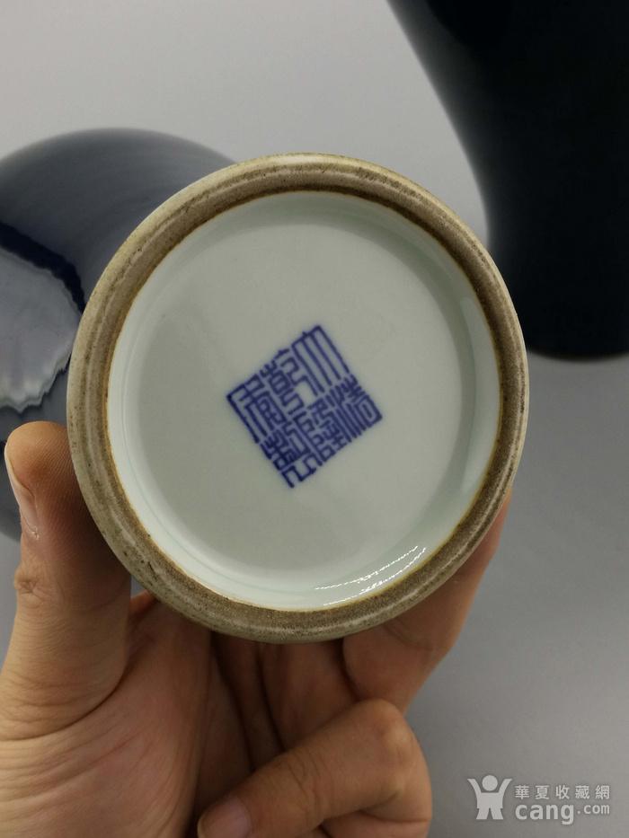 单色釉霁蓝釉梅瓶一对图10