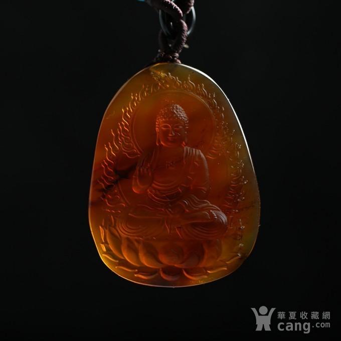 棕红缅甸琥珀阿弥陀佛吊坠 22KQ02图8