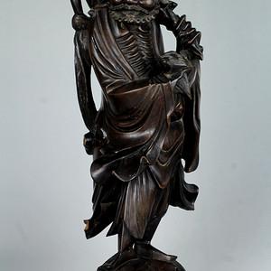 9民国神仙人物木雕件