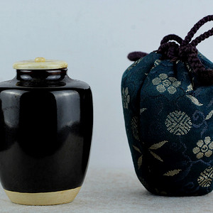 13老日式窑变茶罐