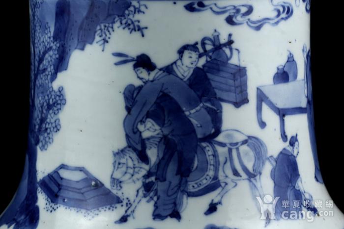 46清康熙青花人物故事纹半截花觚图11