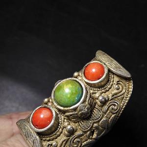 藏传银戒指