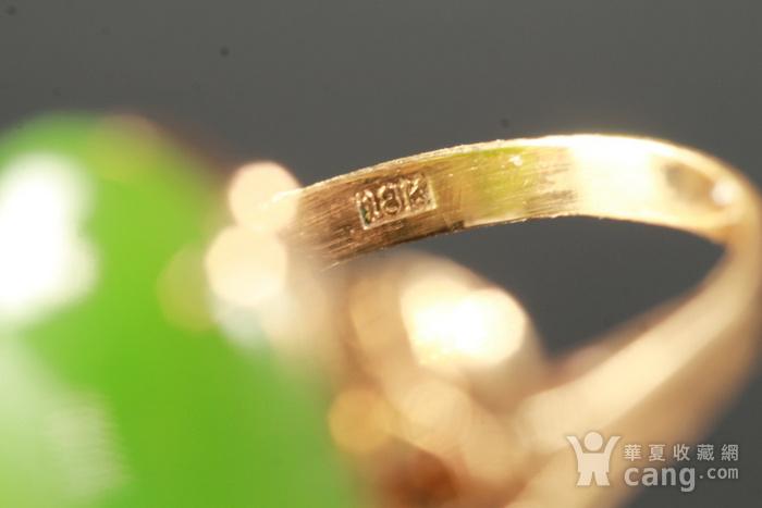 18K金�天然和田碧玉戒指图8