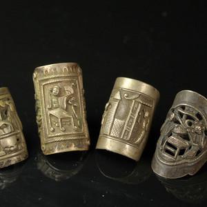 清代老戒指四个