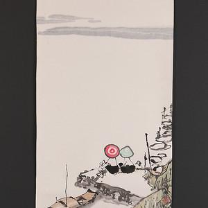 林峥明,作品1,江边两小无猜