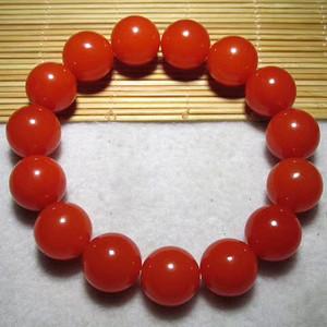 美润 小有年头 正宗保山南红中的极品 北麓柿子红