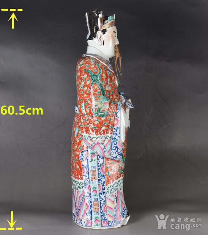 晚清 巨型 粉彩禄星瓷塑图2