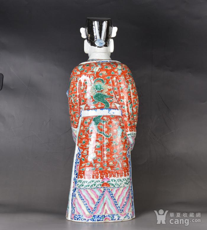 晚清 巨型 粉彩禄星瓷塑图4