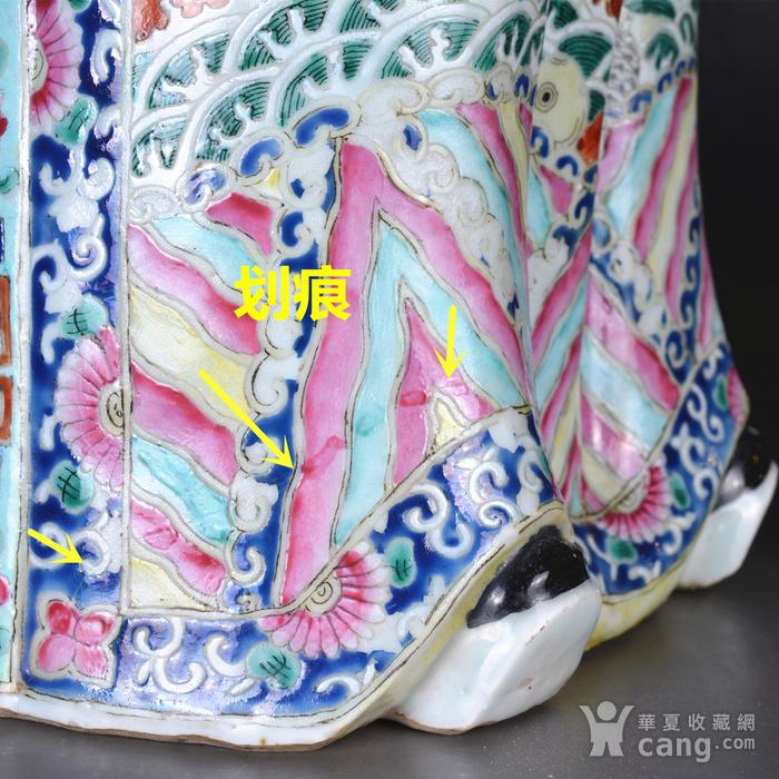 晚清 巨型 粉彩禄星瓷塑图10