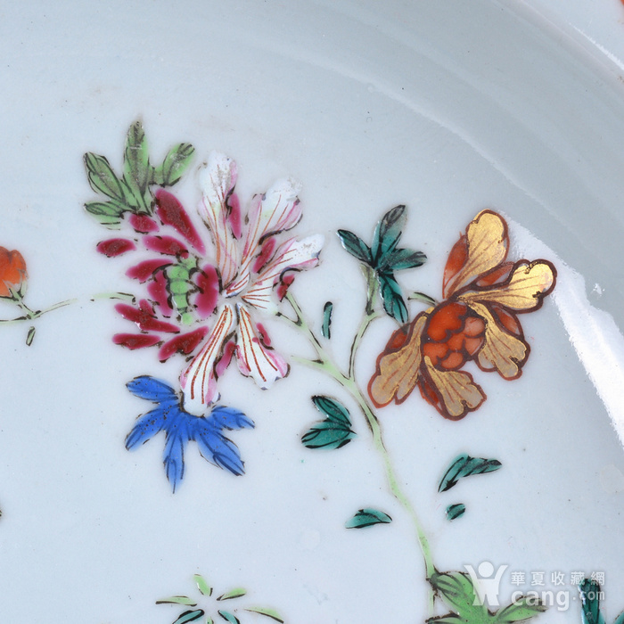 乾隆 粉彩描金花卉 八方盘图3