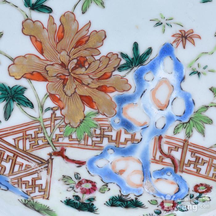 乾隆 粉彩描金花卉 八方盘图4
