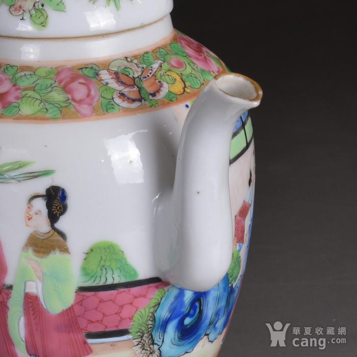 晚清 广彩 人物 茶壶图4
