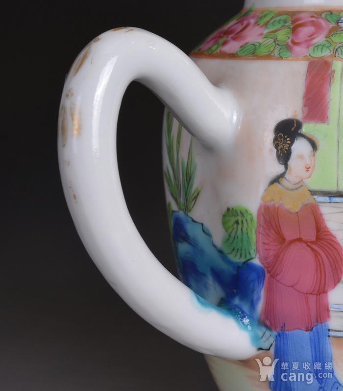 晚清 广彩 人物 茶壶图5