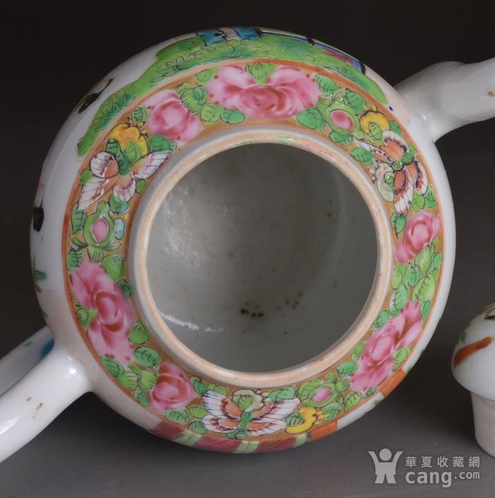 晚清 广彩 人物 茶壶图6