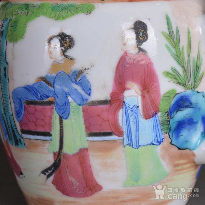 晚清 广彩 人物 茶壶图9