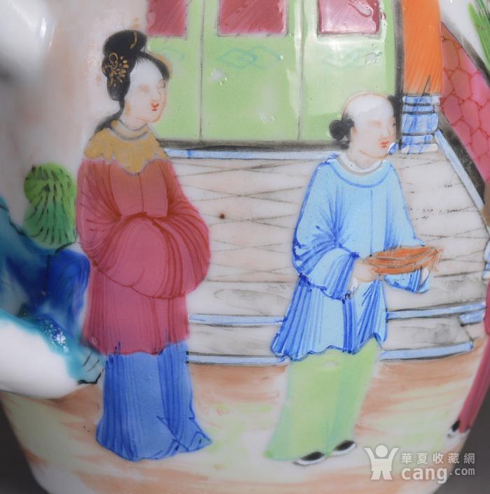 晚清 广彩 人物 茶壶图10