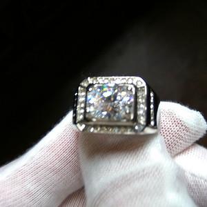 18k白金宝石指环
