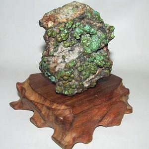 有些年头 正宗云盖寺 原矿绿松石 山子摆件 难能可贵