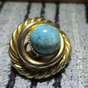 回流 民国时期 银鎏金 镶嵌 上等原矿高瓷 乌兰花 白蓝松石
