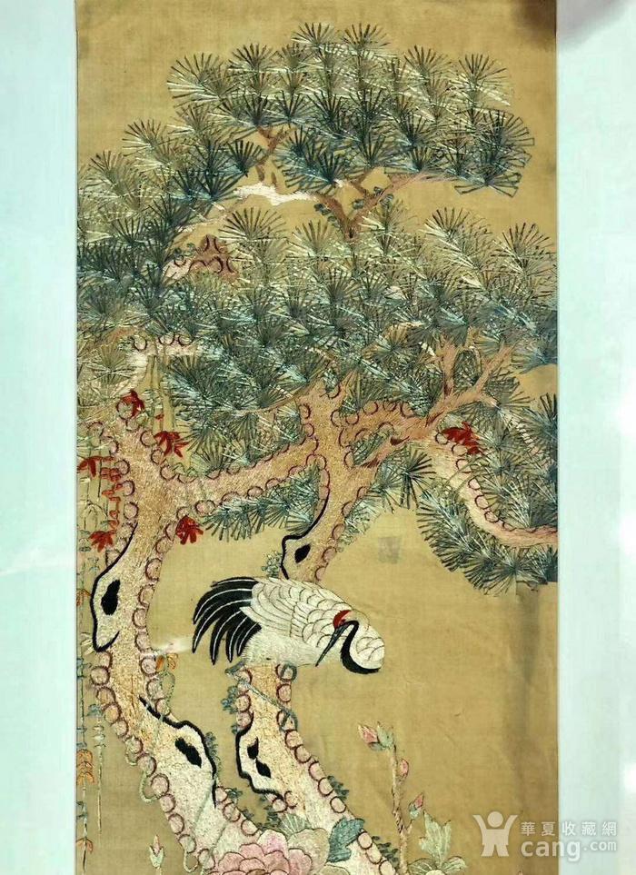 清代精品刺绣挂屏一组图5