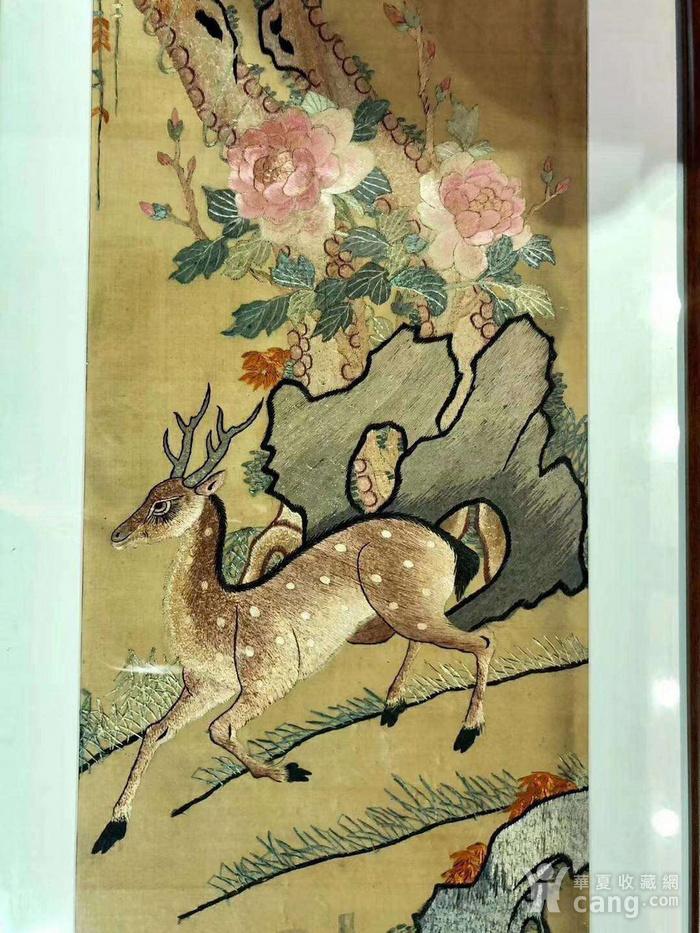 清代精品刺绣挂屏一组图6