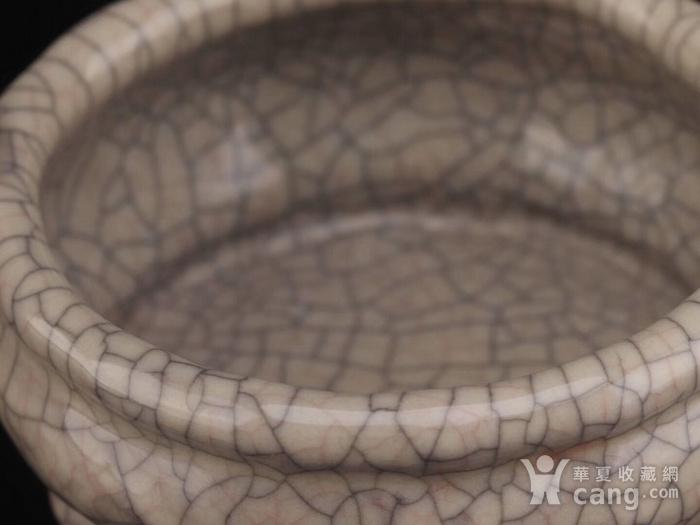 旧藏哥窑三足小琴炉图5