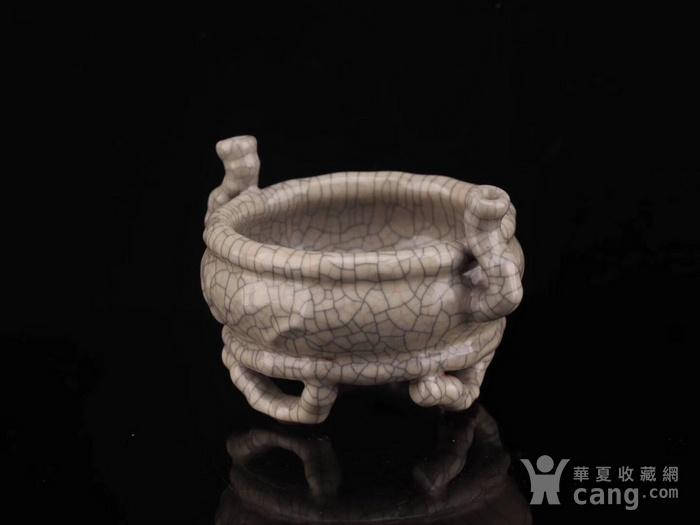 旧藏哥窑三足小琴炉图8