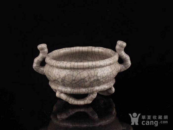 旧藏哥窑三足小琴炉图9