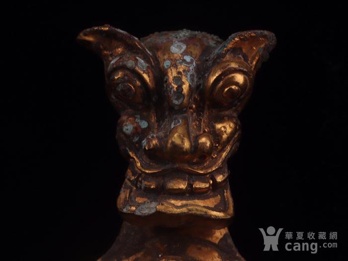 旧藏铜鎏金龙纹带钩图8