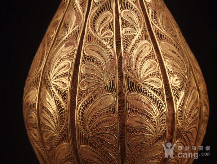 旧藏银鎏金镂空花瓶图2