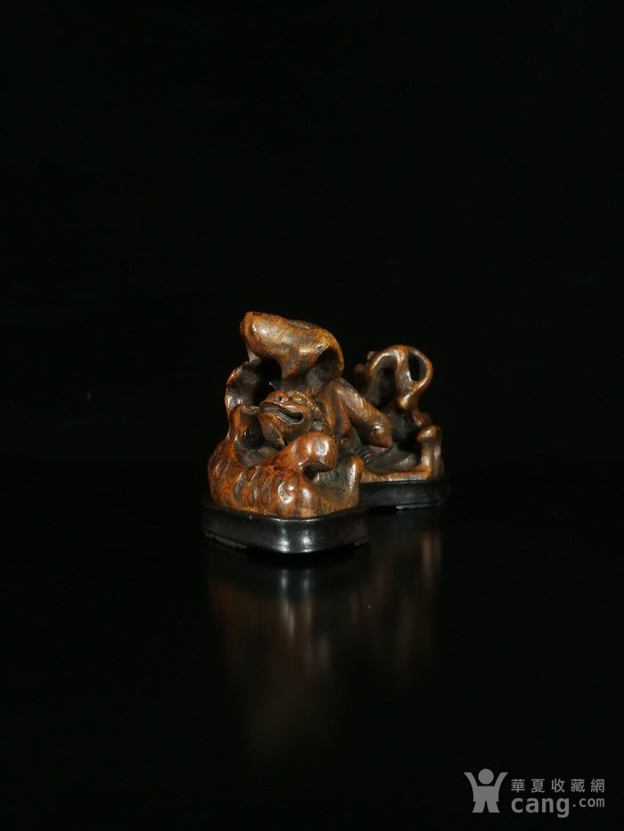 清竹雕双狮文房笔架图6