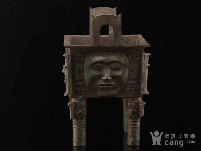 商代人面青铜鼎图7