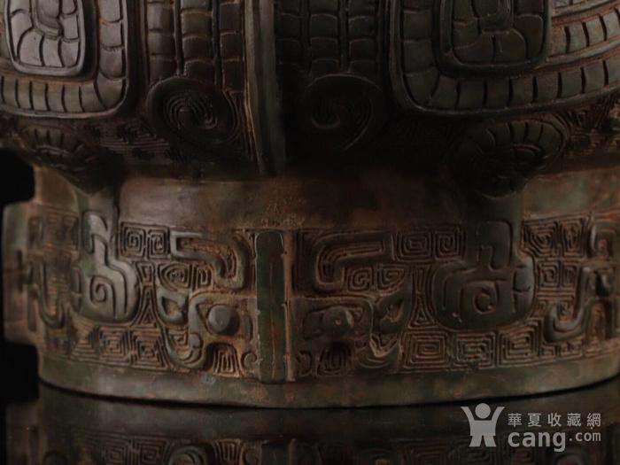 旧藏青铜饕餮纹尊图2