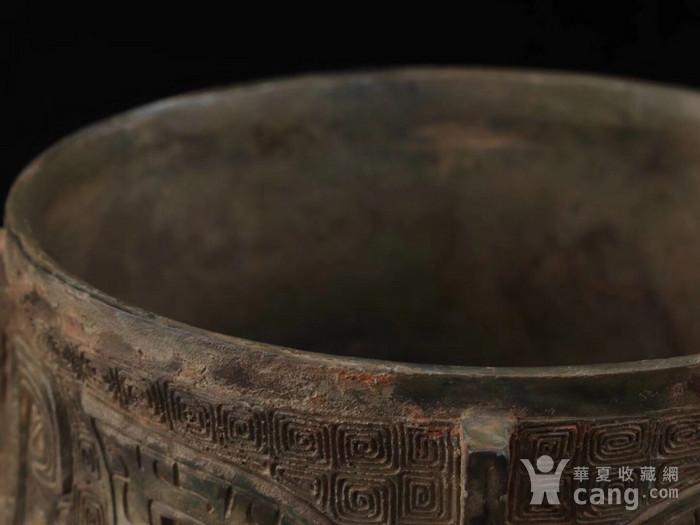 旧藏青铜饕餮纹尊图5