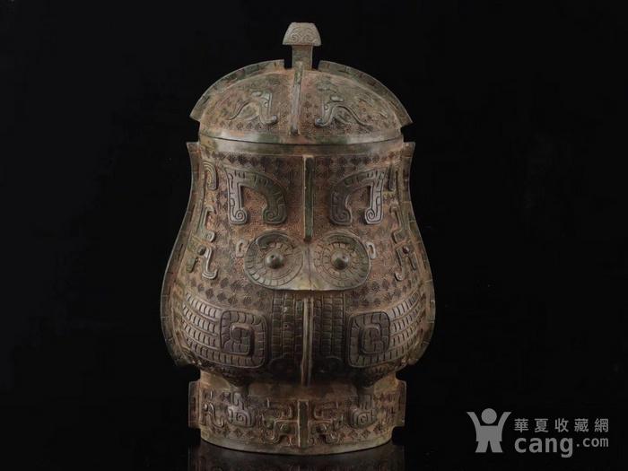旧藏青铜饕餮纹尊图9