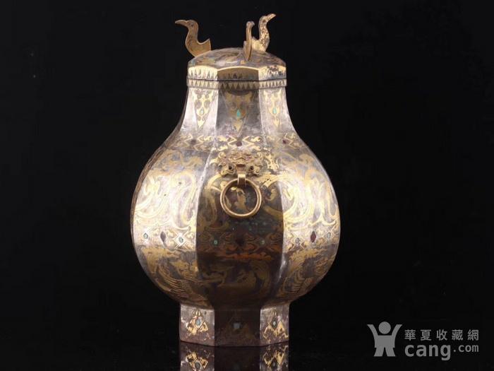 旧藏战国鎏金鎏银瓶一对图7