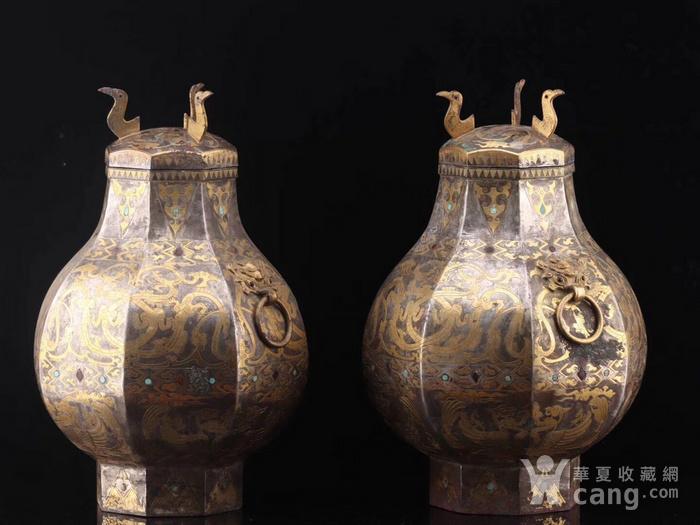 旧藏战国鎏金鎏银瓶一对图8