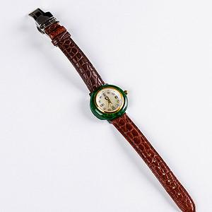 自然光实拍!天然A货好种绿手表