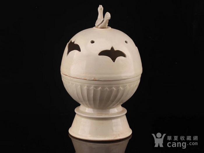 旧藏北宋定瓷鸟熏图8