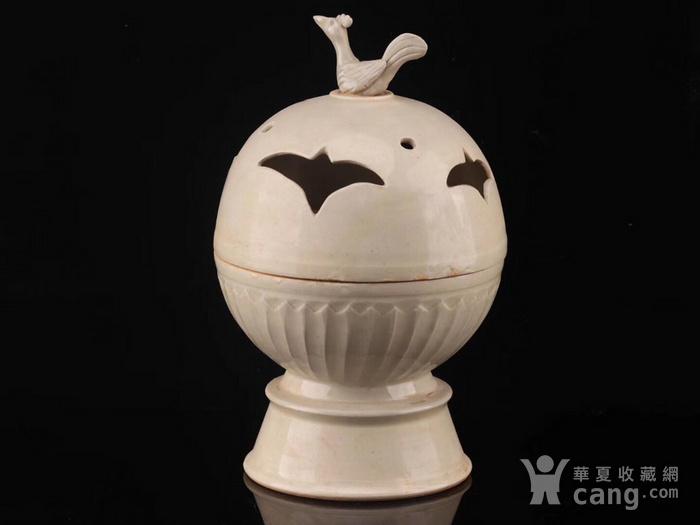 旧藏北宋定瓷鸟熏图9