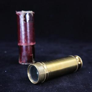 清代铜制单筒望远镜