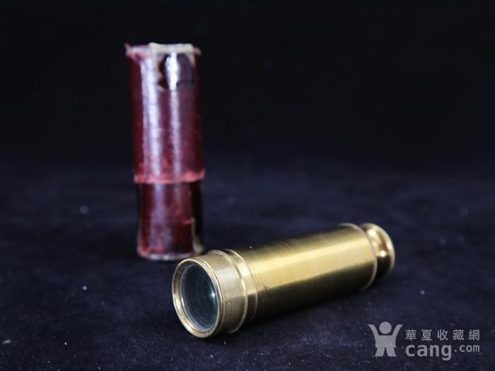 清代铜制单筒望远镜图1