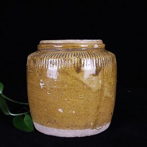 民国黄釉罐