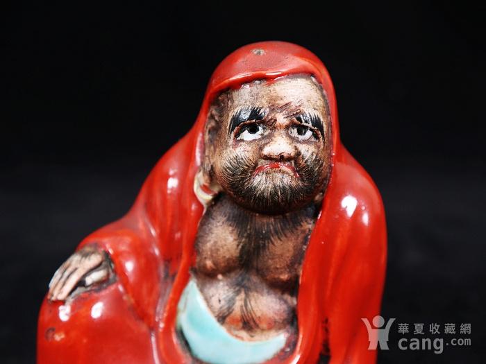清代粉彩达摩塑像图5