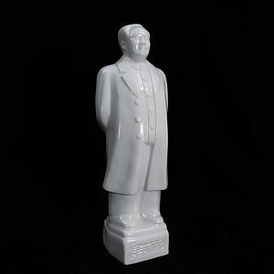 文革白瓷毛主席塑像