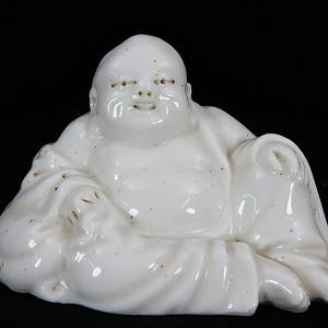 民国德化白釉弥勒佛像