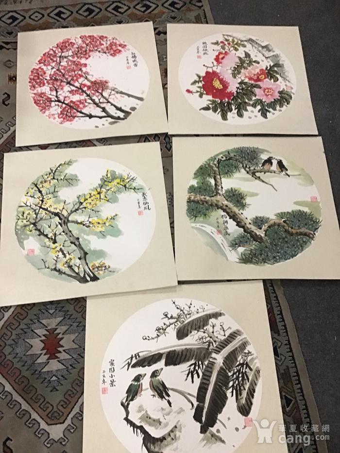 浙江老画家周宇华作品5件图2